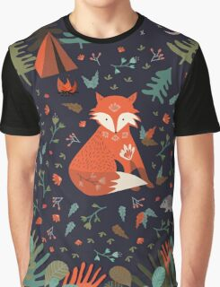 Camping With Fox Graphic T-Shirt