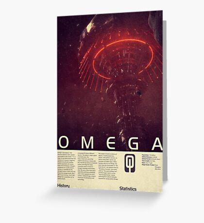 Mass Effect - Omega Vintage Poster Greeting Card