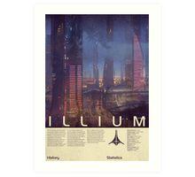 Mass Effect - Illium Vintage Poster Art Print