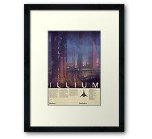 Mass Effect - Illium Vintage Poster Framed Print