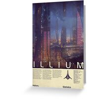 Mass Effect - Illium Vintage Poster Greeting Card