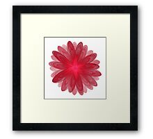 Red Flower Bloom Fractal  Framed Print