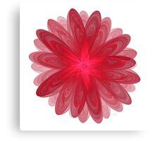 Red Flower Bloom Fractal  Canvas Print