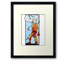 Aang and Altaria - Pokemon and Airbender Framed Print