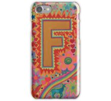 Initial F iPhone Case/Skin