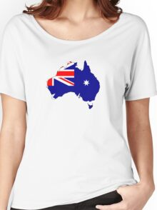 Australia Map And Flag Women's Relaxed Fit T-Shirt
