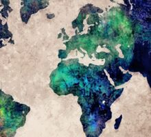 World map watercolor 1 Sticker