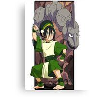 Toph and Onix - Pokemon and Earthbender Canvas Print