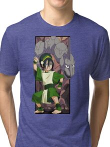 Toph and Onix - Pokemon and Earthbender Tri-blend T-Shirt