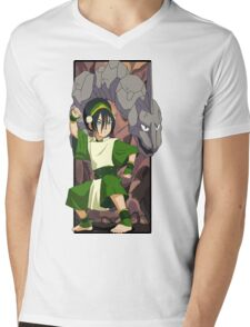 Toph and Onix - Pokemon and Earthbender Mens V-Neck T-Shirt