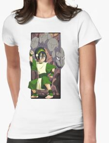 Toph and Onix - Pokemon and Earthbender Womens T-Shirt