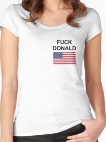 F*** Donald Women's Fitted Scoop T-Shirt