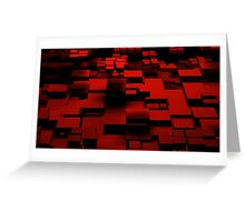 Cube Red Greeting Card