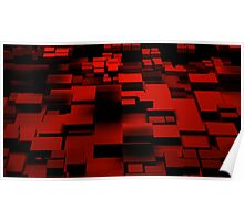 Cube Red Poster