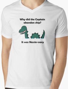 It was Nessie-ssary Mens V-Neck T-Shirt