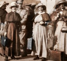 Nurses Arriving Railway Station WWI Sticker