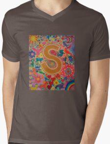 Initial S Mens V-Neck T-Shirt