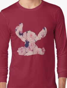 Flowers Stitch  Long Sleeve T-Shirt