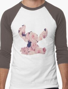 Flowers Stitch  Men's Baseball ¾ T-Shirt
