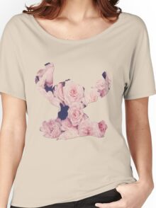 Flowers Stitch  Women's Relaxed Fit T-Shirt