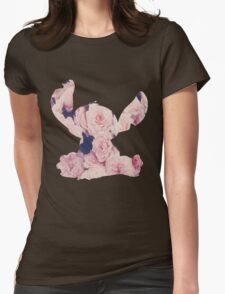 Flowers Stitch  Womens Fitted T-Shirt