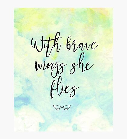 With brave wings she flies Photographic Print