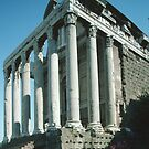 Temple Antonio & Faustina Rome Italy 19840719 0004   by Fred Mitchell