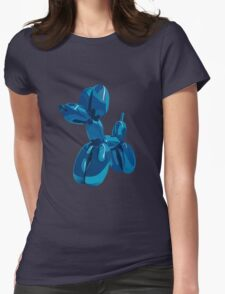 baloon dog Womens Fitted T-Shirt