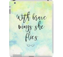 With brave wings she flies iPad Case/Skin
