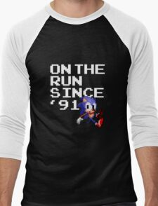 On the Run Since '91 Men's Baseball ¾ T-Shirt