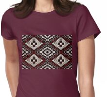 Vintage Red Crazy Quilt Womens Fitted T-Shirt