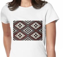 Navajo Vintage Red Crazy Quilt Womens Fitted T-Shirt