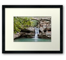 Old Man's Cave Upper Falls Beautiful Nature Landscape Art Framed Print