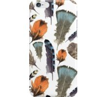 Watercolor feathers iPhone Case/Skin