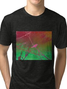 Bokeh Bird Tri-blend T-Shirt