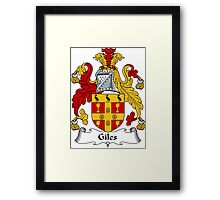 Giles Coat of Arms / Giles Family Crest Framed Print