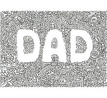 Father's Day Doodle Drawing Photographic Print