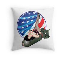 USA Bombshell Throw Pillow