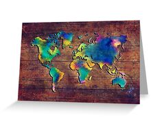 World map watercolor 2 Greeting Card