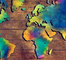 World map watercolor 2 Sticker