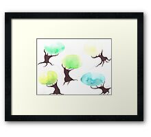 Watercolor Trees Framed Print