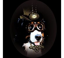 5.	Cheerful Steampunk Bernese Mountain Dog with Hat and Goggles Photographic Print