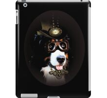 5.	Cheerful Steampunk Bernese Mountain Dog with Hat and Goggles iPad Case/Skin