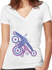 Take Aim Women's Fitted V-Neck T-Shirt