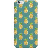Pastel Pineapple Green Pattern iPhone Case/Skin