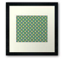 Pastel Pineapple Green Pattern Framed Print