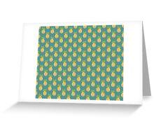 Pastel Pineapple Green Pattern Greeting Card
