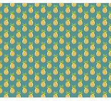 Pastel Pineapple Green Pattern Photographic Print
