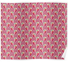 Pastel Strawberry Pink Pattern Poster
