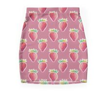 Pastel Strawberry Pink Pattern Mini Skirt